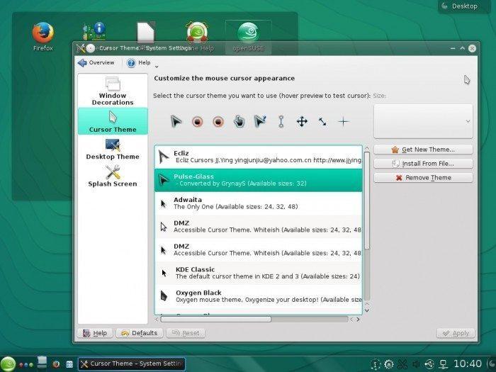 openSUSE 13.2 - styl kursora
