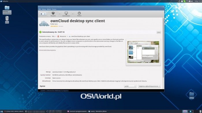ownCloud Client - instalacja
