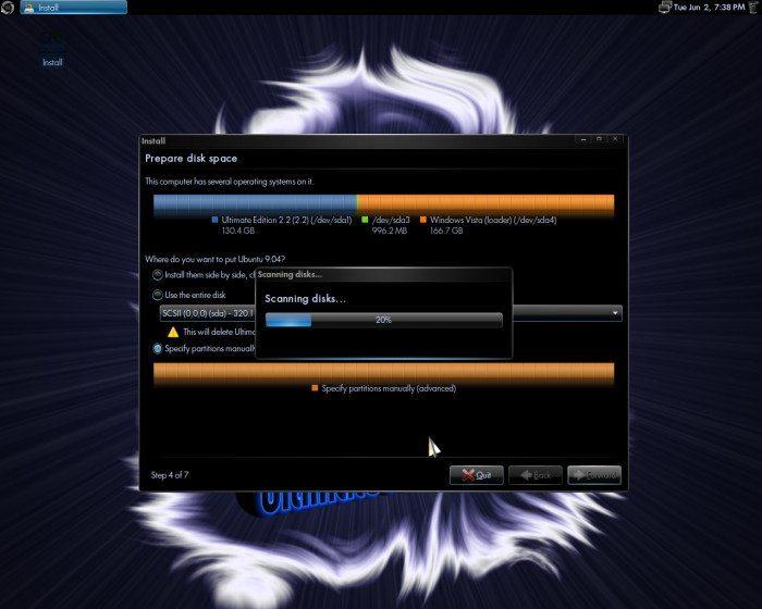 Ultimate Edition - Tworzenie partycji