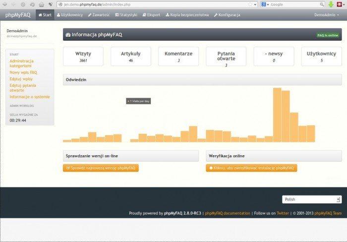 phpMyFAQ 2.8.0 - informacja