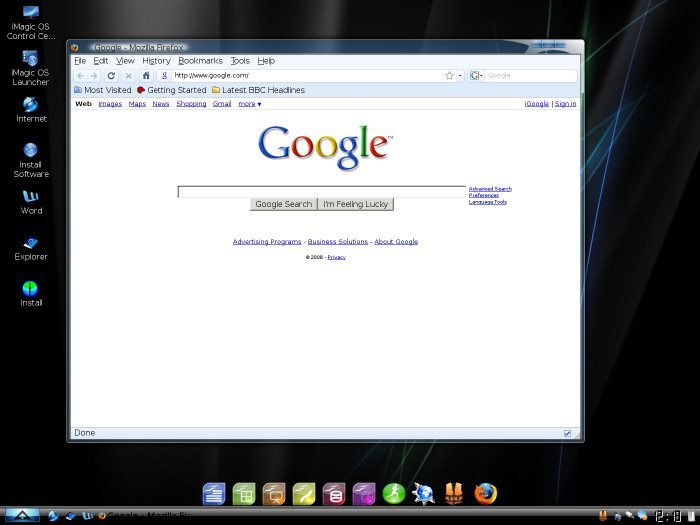 iMagic OS - Mozilla Firefox
