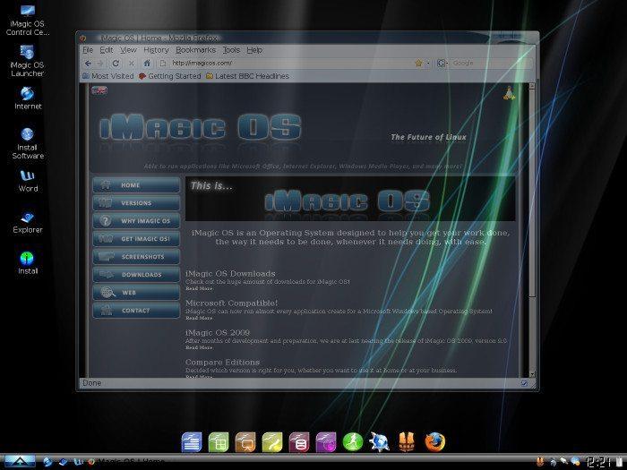 iMagic OS - Przezroczyste okna