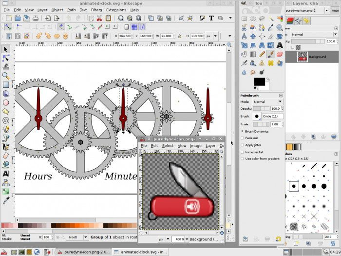 Puredyne - Inkscape oraz Gimp