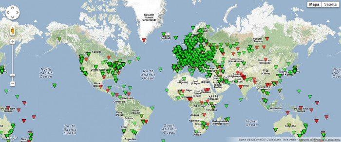 RIPE Atlas - mapa sond