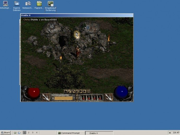ReactOS - Diablo 2