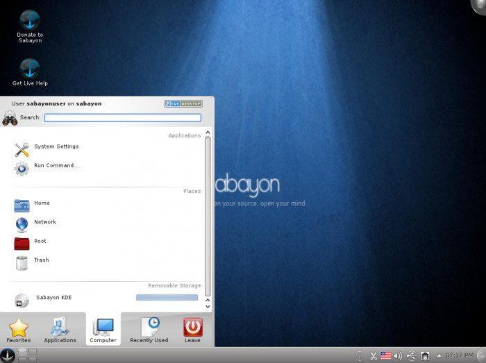 Sabayon Linux 6 KDE