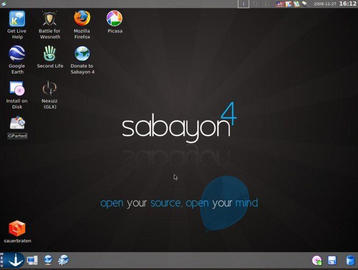 Sabayon Linux 4 - Pulpit