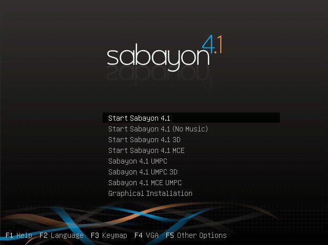 Sabayon Linux 4.1 - Boot
