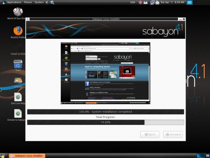 Sabayon Linux 4.1 - Instalacja