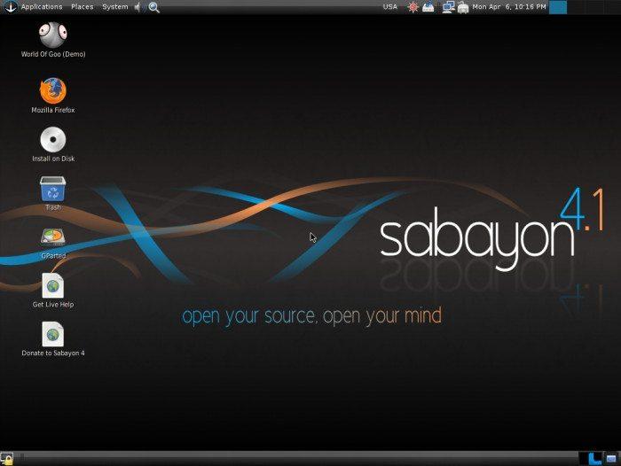 Sabayon Linux 4.1 - Pulpit