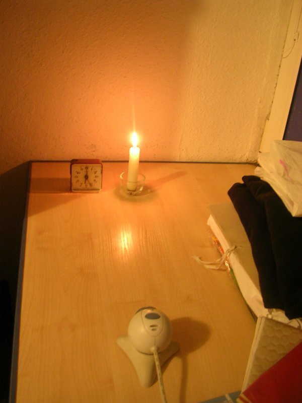 Świeczka - kamera internetowa