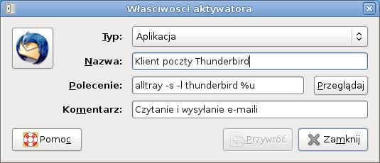 Thunderbird - konfigurowanie AllTray