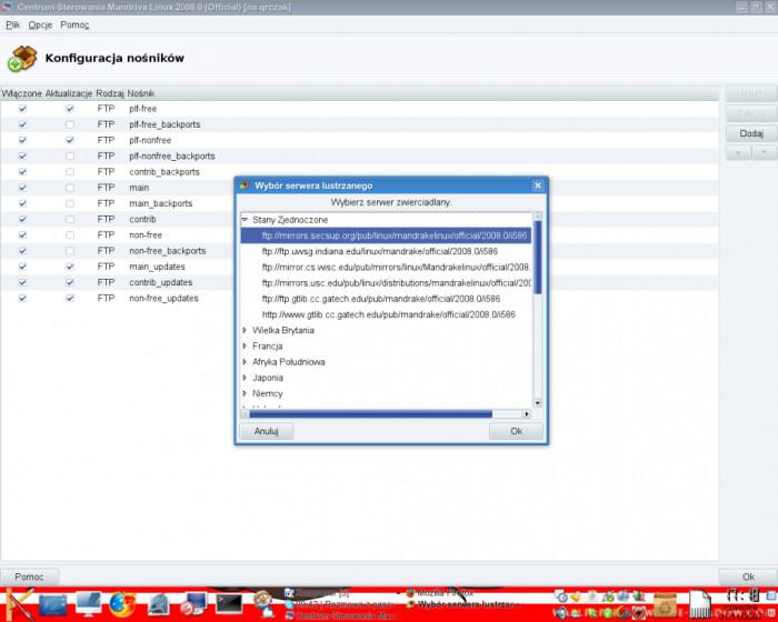 URPMI - Wybór serwera zwierciadlanego