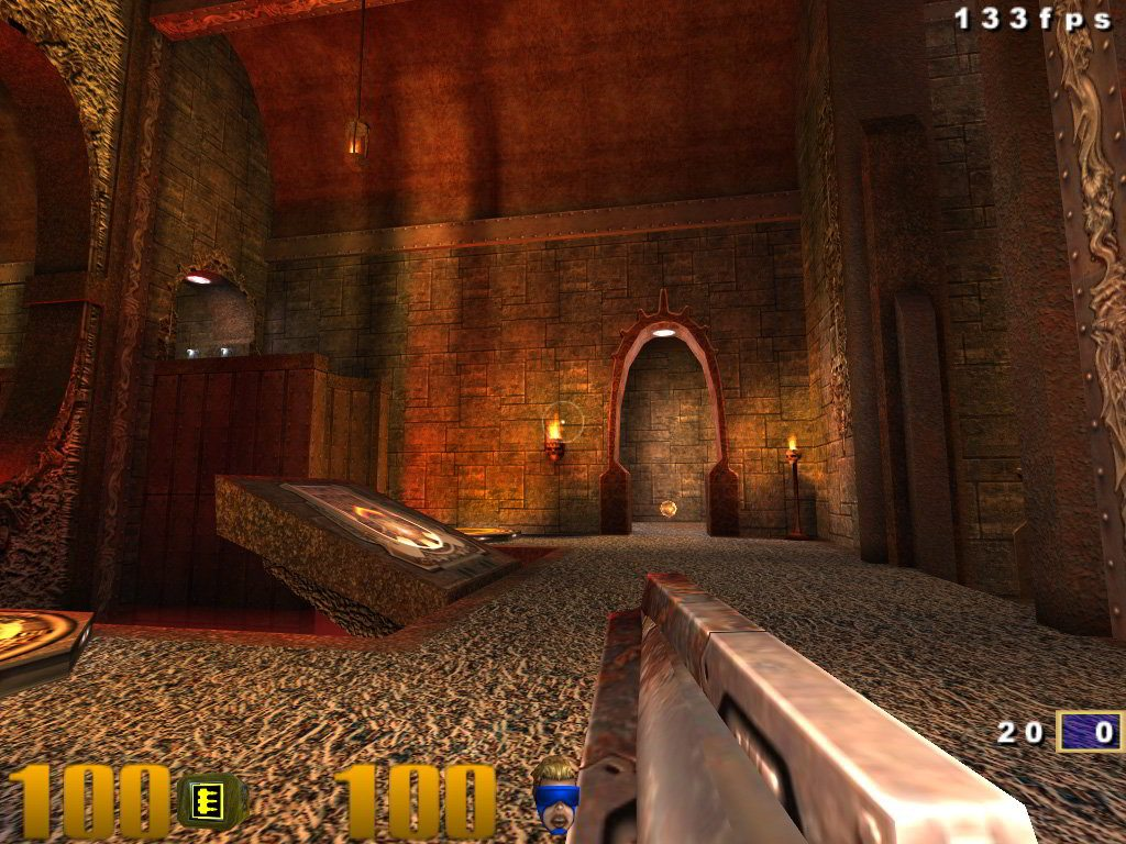 Quake 3 na Raspberry Pi, działającym na otwartych sterownikach dla układu BCM2835