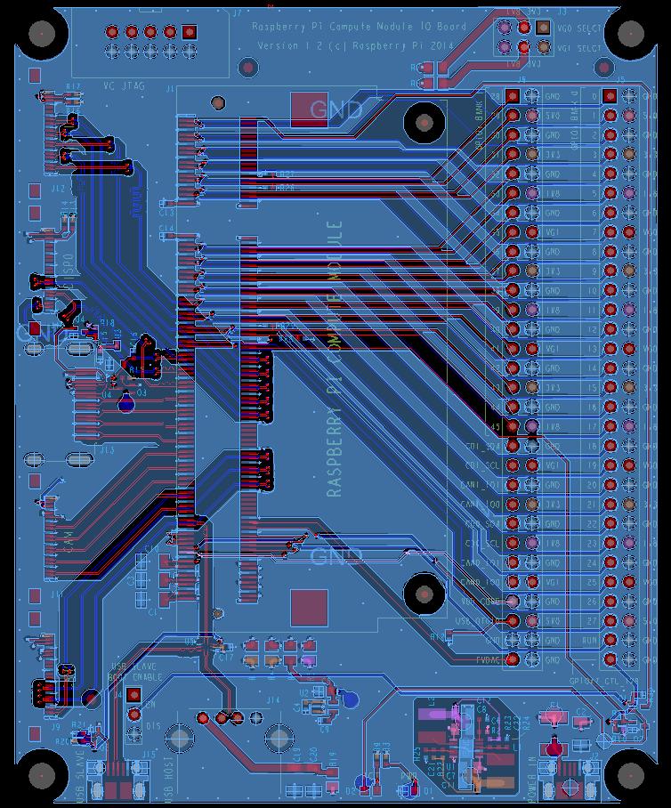 Compute Module IO Board - plik CAD