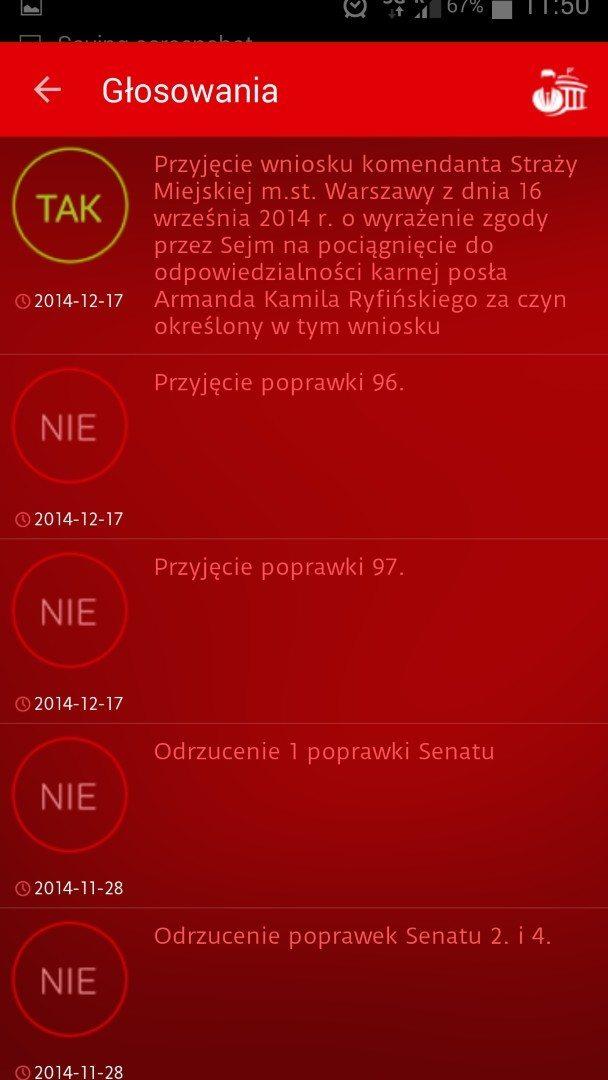 Aplikacja Parlament