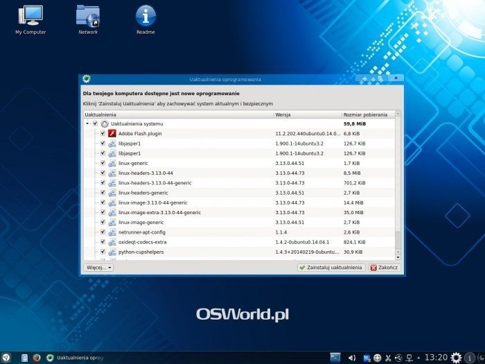 Netrunner 14.1 - aktualizacja systemu