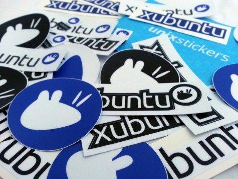 Naklejki Xubuntu