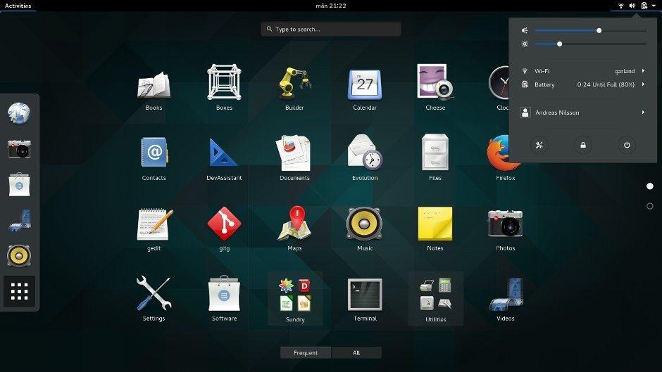 GNOME 3.16 - obszar powiadomień