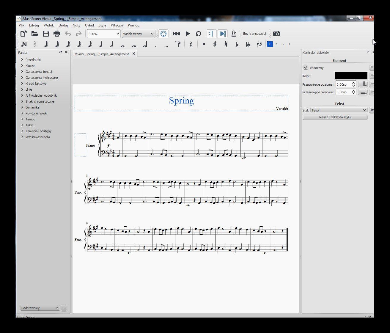 MuseScore 2.0 - zbiory sieciowe