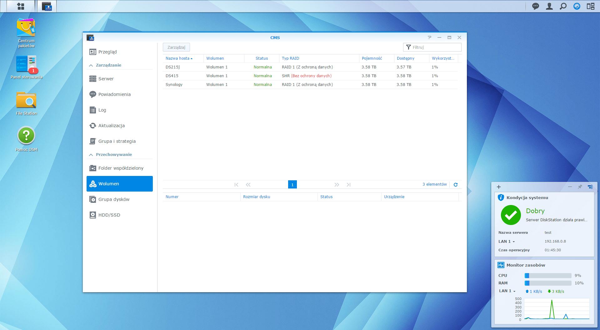 Synology DiskStation Manager