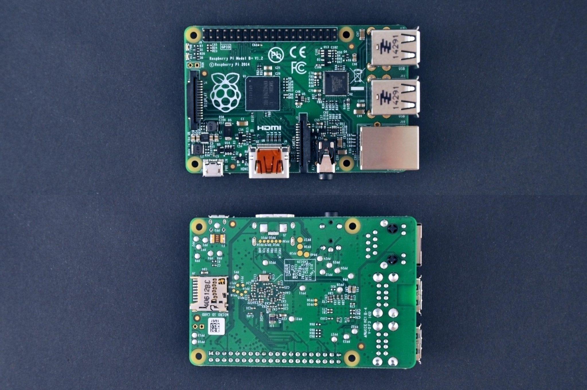 Raspberry Pi Model B+ - spód
