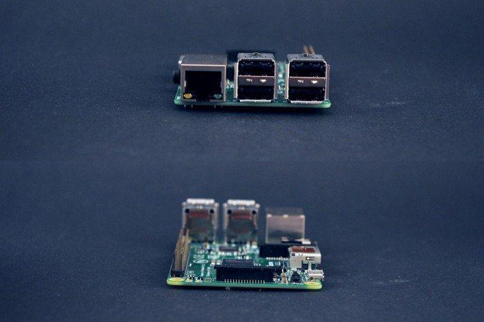 Raspberry Pi Model B+ - przód i tył