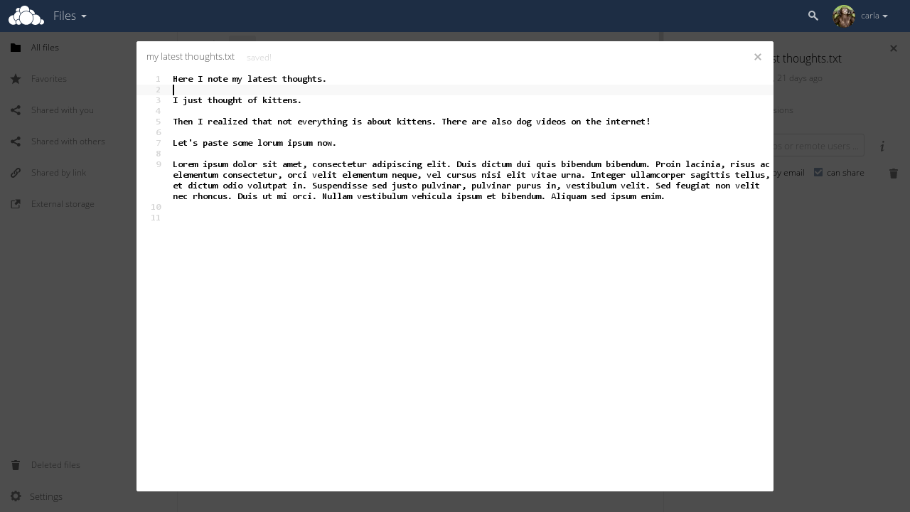 ownCloud Server 8.2