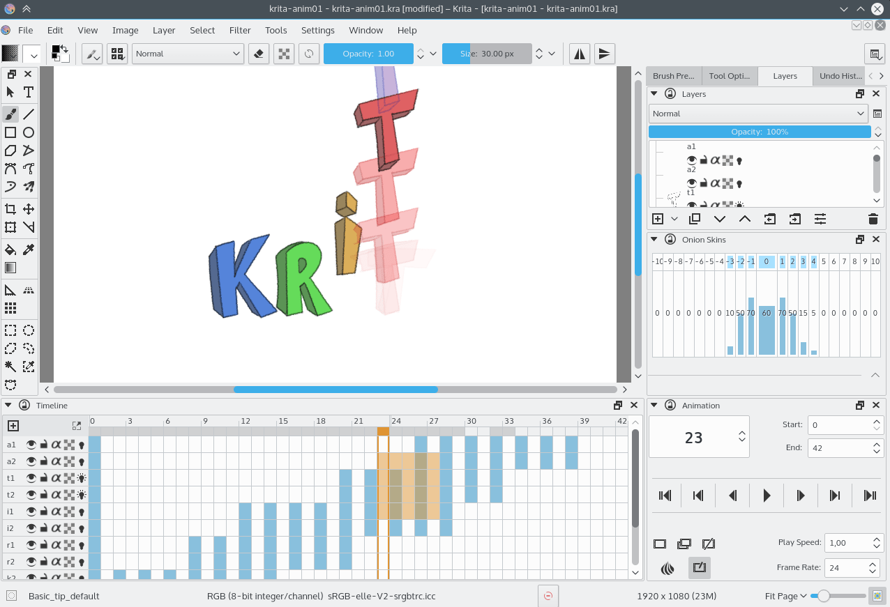 Krita 2.9 Animation Edition Beta