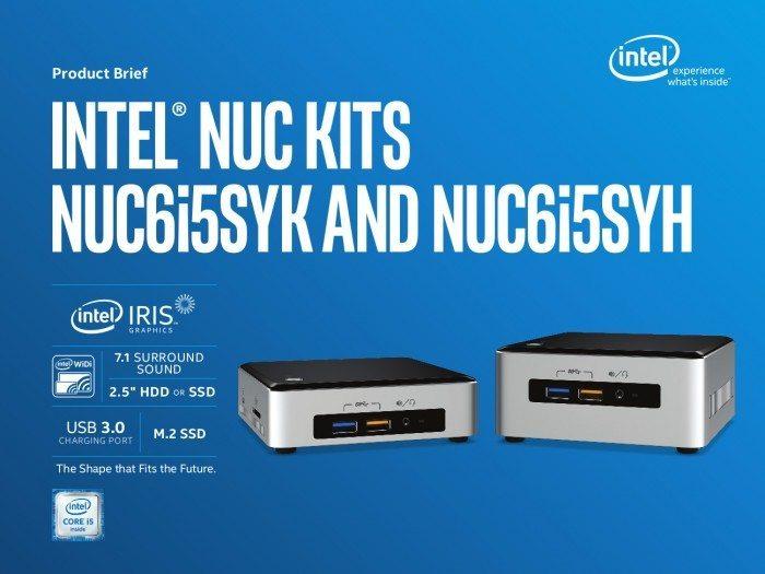 Intel NUC6i3SYK, NUC6i3SYH