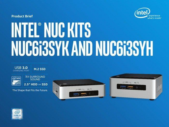 Intel NUC6i5SYK, NUC6i5SYH