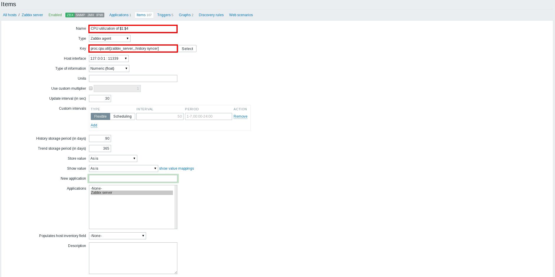Zabbix 3.0