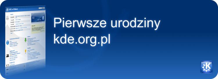 Pierwsze urodziny kde.org.pl