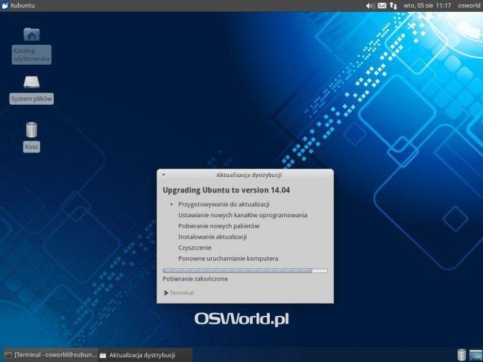 Aktualizacja Xubuntu 12.04 LTS do Xubuntu 14.04 LTS - przygotowanie systemu