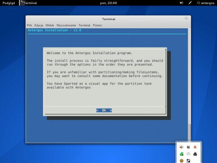 Antergos 2013.05.12 - instalator CLI