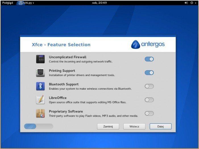 Antergos 2013.11.17 - komponenty systemu