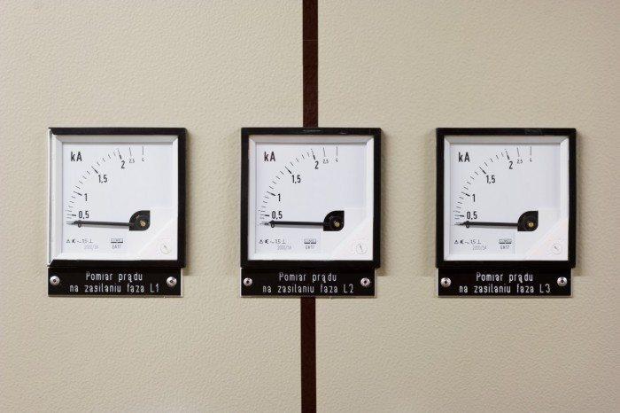 Centrum Informatyczne Świerk - pomiar prądu na zasilaniu