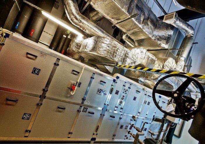 Centrum Informatyczne Świerk - system wentylacyjny - centrala i kanały wentylacyjne 1