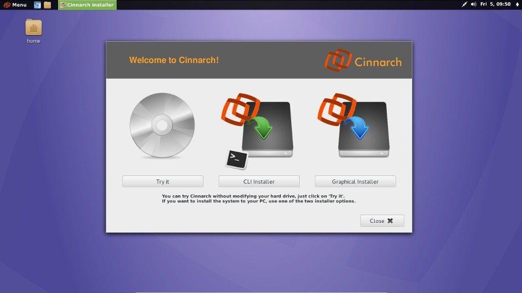 Cinnarch 2013.04.05 - Cnchi, nowy graficzny instalator