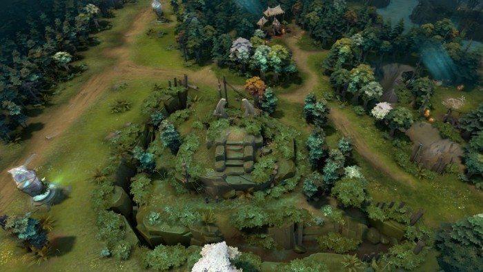 DOTA 2 update Rekindling Soul - górny obszar Świetlistych