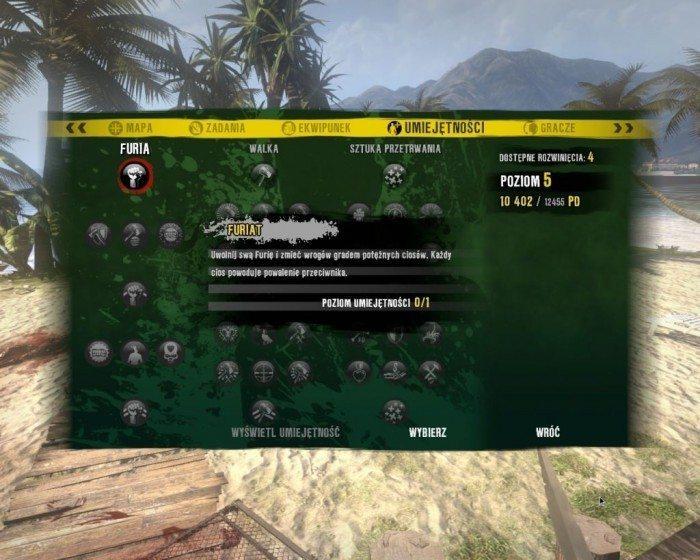Dead Island na Linuksa - umiejętności