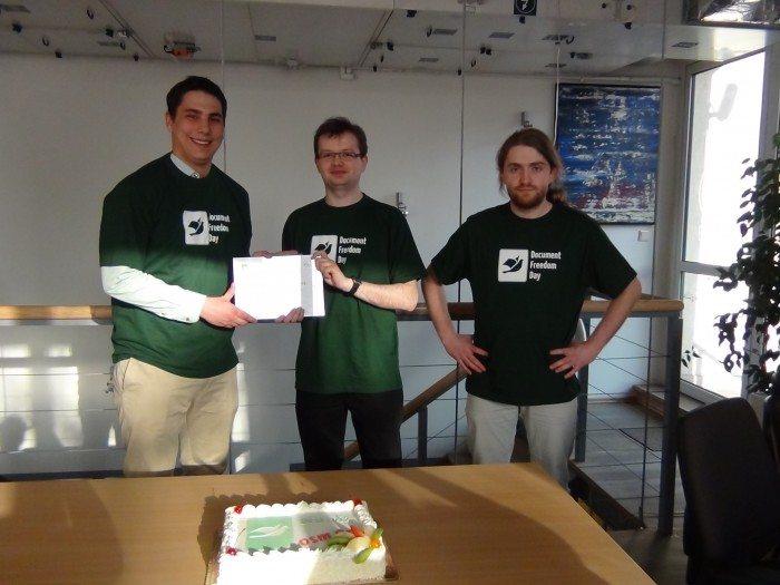 Document Freedom Day 2012 - certyfikat Stowarzyszenie Integracji Stołecznej Komunikacji_2