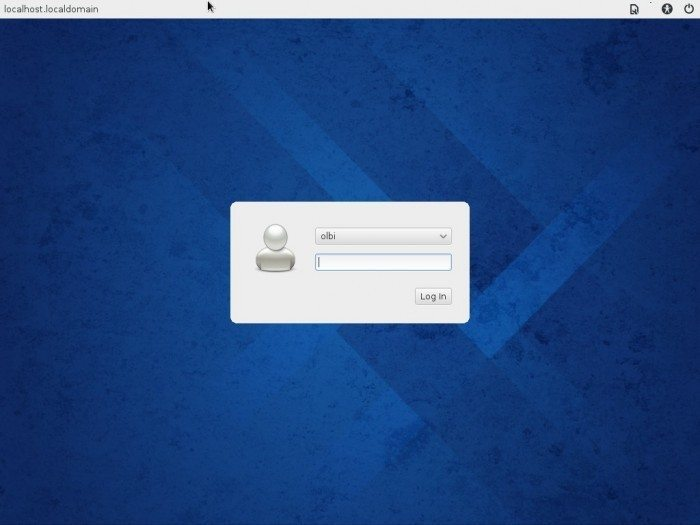 Fedora 20 Xfce - Ekran logowania