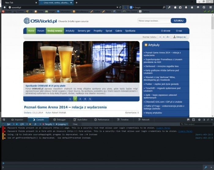 Firefox Developer Edition - Web Console