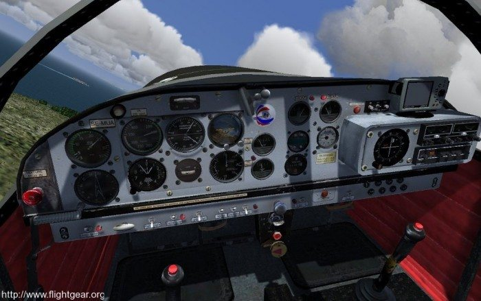 FlightGear 2.12 - kokpit Mudry CAP 10C