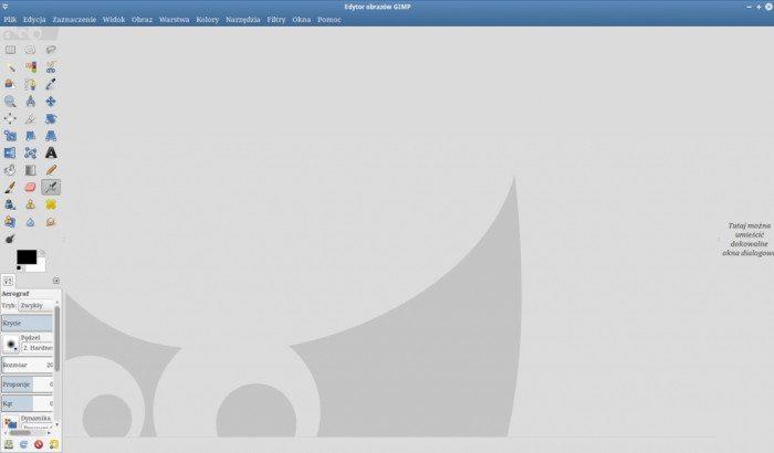 GIMP 2.8 - tryb jednego okna