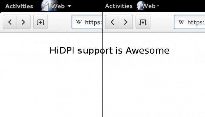 GNOME 3.12 - obsługa HiDPI