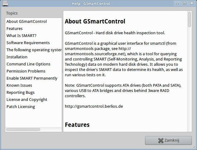 GSmartControl - Help