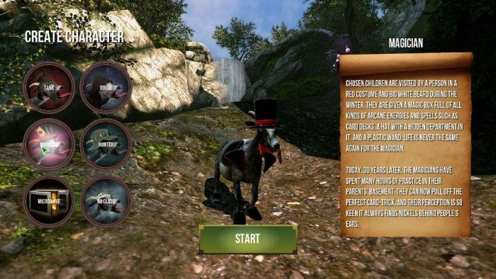 Goat MMO Simulator DLC - wybór klasy