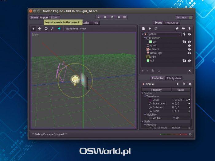Godot Engine 1.0 - edytor pod Ubuntu